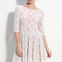 En Crème Layered Lace Full Skirt Dress (Juniors) | Nordstrom
