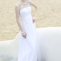 Lightly Beaded Casual Bridal Gown