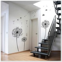 Huge Dandelion Clock Wall Decal