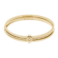 Michael Kors Buckled Bangle Set, Golden - Michael Kors