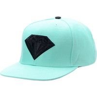 Diamond Supply Emblem Teal &amp; Black Snapback Hat