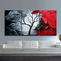 Only 36.88! Modern Abstract Huge Art Oil Painting Canvas Large Tree