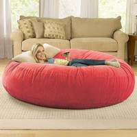 Giant Bean Bag Chair Lounger at Brookstone?Buy Now!