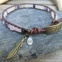 Insomnia - anti stress - self love powerstone bracelet - Single Wrap
