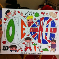 One Direction Forever by Drawingsbymaci on Etsy
