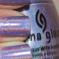 CHINA GLAZE OMG &quot;IDK&quot; FANTASTIC HOLOGRAPHIC NAIL POLISH LIKE OPI DS ORIGINAL