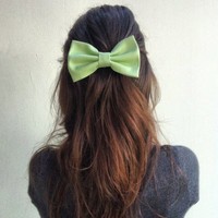 Apple Green BIG Hair Bow