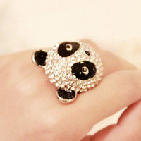 Big Cute Panda Ring