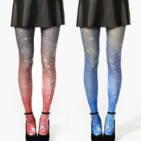 SPECIAL 2X Galaxy Tights Nebula Space Sheer by Shadowplaynyc