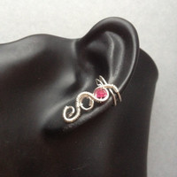 Ear cuff, Ruby
