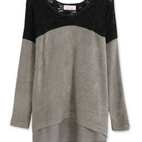 *Free Shipping* Grey Women Cotton Top FZ60519g from efoxcity