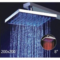 Amazon.com: 8- Inch No Battery 3 Color LED Brass Temperature Sensitive Rainfall Bathroom Shower Head ,Chrome Finish Ys-1700: Home Improvement