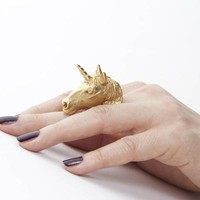Unicorn Ring (Yellow) by Leila Kashanipour