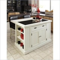 Home Styles Nantucket Kitchen Island in Distressed White Finish - 5022-94