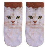 Amazon.com: Cat Ankle Socks Photo Print Style: Toys & Games