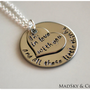 Hand Stamped Necklace  One Direction Lyrics  by MadSkyandCo