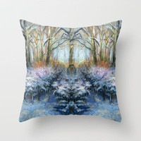Winter Wonderland Throw Pillow by Alexandra Cook aka Linandara | Society6