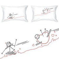 "Amazon.com: BoldLoft ""Fallen for You"" Couple Pillowcases-Romantic Valentine's Day Gifts for Couples,Cute Valentines Gifts for Him or Her,Romantic Anniversary Gifts: Home & Kitchen"