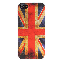 Retro UK Flag Pattern Hard Case for iPhone 5
