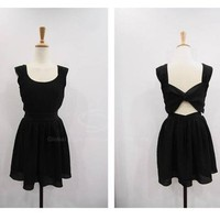Black Bow-Back Dress from CATPRINCESS CLOTHING