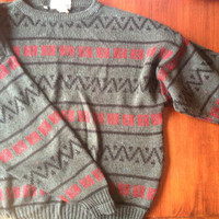 Vintage Aztec Style Hipster Sweater