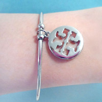 Tory Burch, Round TT, Gold/Pink Gold/Silver, Bangle