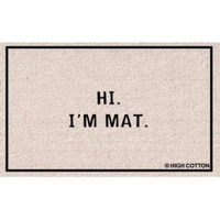 "Hi I'm Mat (Natural/Black) (18""D x 27""W)"