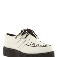 T.U.K. White Leather Original Creepers - 934199