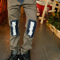 Ripped Designer Slim Casual Pants