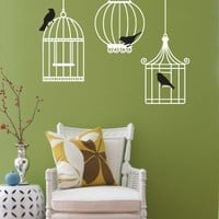 Vinyl Wall Sticker Decal Art Birdcages by urbanwalls on Etsy