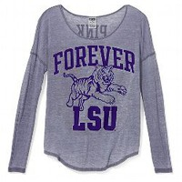 LSU Long-sleeve Drapey Tee - Victorias Secret PINK - Victoria's Secret
