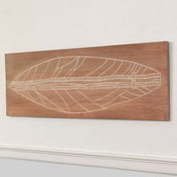 Carved Wood Surfboard