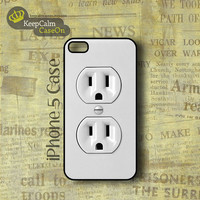 iPhone 5 Case Electric Outlet iPhone Case Hard by KeepCalmCaseOn
