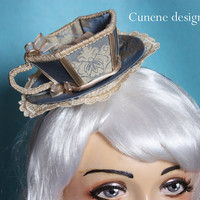 Cunene Tea Cup Mini Hat Fascinator by cunene on Etsy