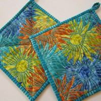 Pot Holders - Flower or Sunburst
