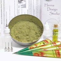 Beachcombers! Ultimate Beginner Paste And Powder Henna Tattoo Starter Kit With Transfer Paper And H