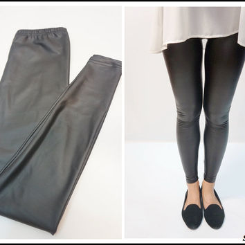 Sandysshop — Leather Leggings ON SALE