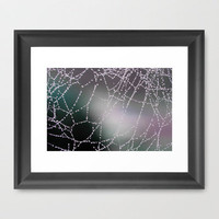 The Web Framed Art Print by Aja Maile | Society6