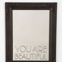 UrbanOutfitters.com &gt; You Are Beautiful Mirror