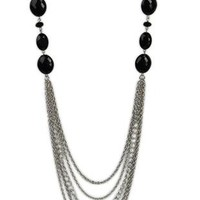 multi chain necklace with bead stations - debshops.com