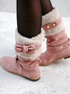 AsiaJam.com Fashion Boutique | Pink Ribbon Strap Ugg Boots