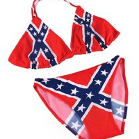 Confederate Flag Bikini Rebel Bathing Suit Swimsuit