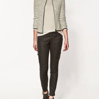 JACKET WITH ZIP AND EDGING - Collection - Blazers - Collection - Woman - ZARA United States