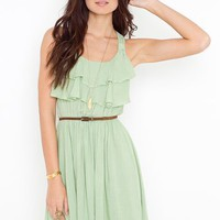 Ruffled Racer Dress in Clothes Dresses at Nasty Gal