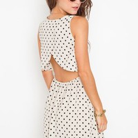 Dot Cutout Dress in Clothes Dresses at Nasty Gal