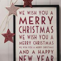 Merry Christmas Poster | Signs & Garlands | Christmas | £10.00 - The Contemporary Home Online Shop