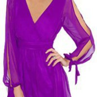 Plastic Island Romper- Violet Wrap Romper- Plastic Island- &amp;#36;105