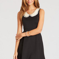 Pearl Collar Ponte Dress