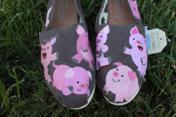 Pigs original custom acrylic painting for from for Custom acrylic paint