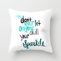Unique Sparkle Throw Pillow by jlbrady213 &amp; KBY | Society6